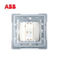 ABB开关插座由雅系列白色一位八芯超5类电脑插座