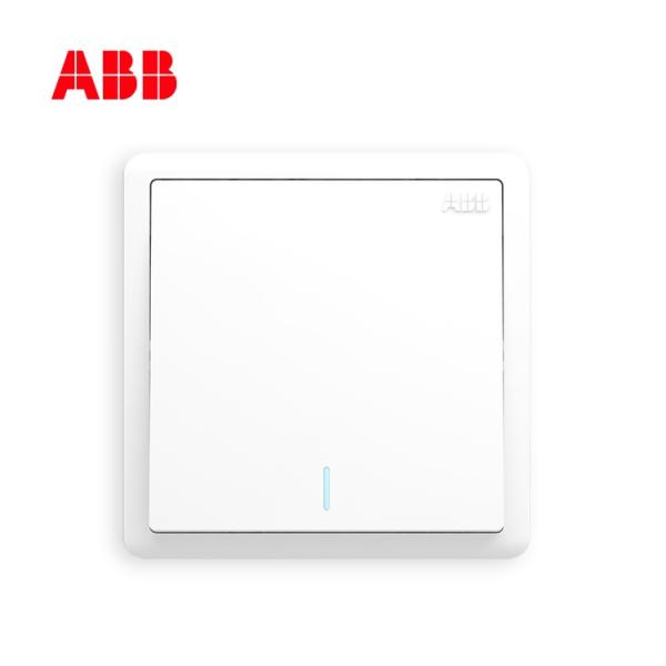 ABB远致系列一位单控带荧光开关 10AX  AO101;10231834