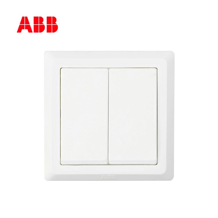ABB开关插座徳逸系列白色二位单控开关 10AX