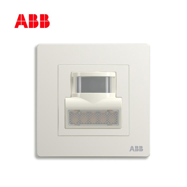 ABB开关插座轩致系列雅典白人体红外感应壁角灯AF406;10183490