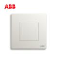 ABB开关插座轩致系列雅典白空白面板AF504;10183491