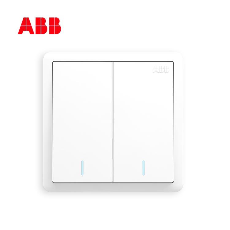 ABB远致系列二位单控带荧光开关 10AX  AO102;10231836
