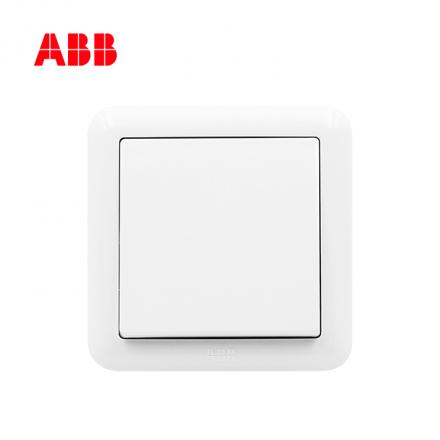 ABB开关插座德静系列白色一位单控开关 10AX