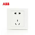 ABB开关插座永致系列白色二位二三极插座 10A