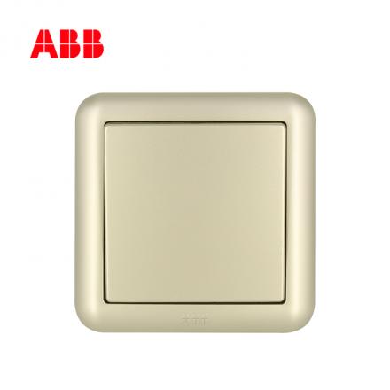 ABB开关插座德静系列珍珠金一位单控开关 10AX