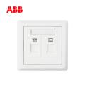 ABB开关插座徳逸系列白色二位电话/电脑插座,6类