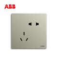 轩致系列五孔插座10A, 香槟银, AF205-CS;10183561