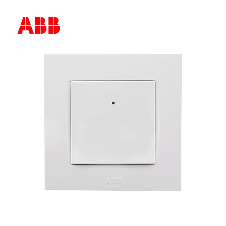 ABB开关插座由艺系列白色一位单控带灯开关 10AX