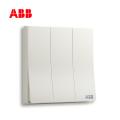 ABB开关插座轩致系列雅典白三位双控开关AF121;10183441