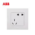 ABB开关插座由艺系列白色二位二、三极插座 10A