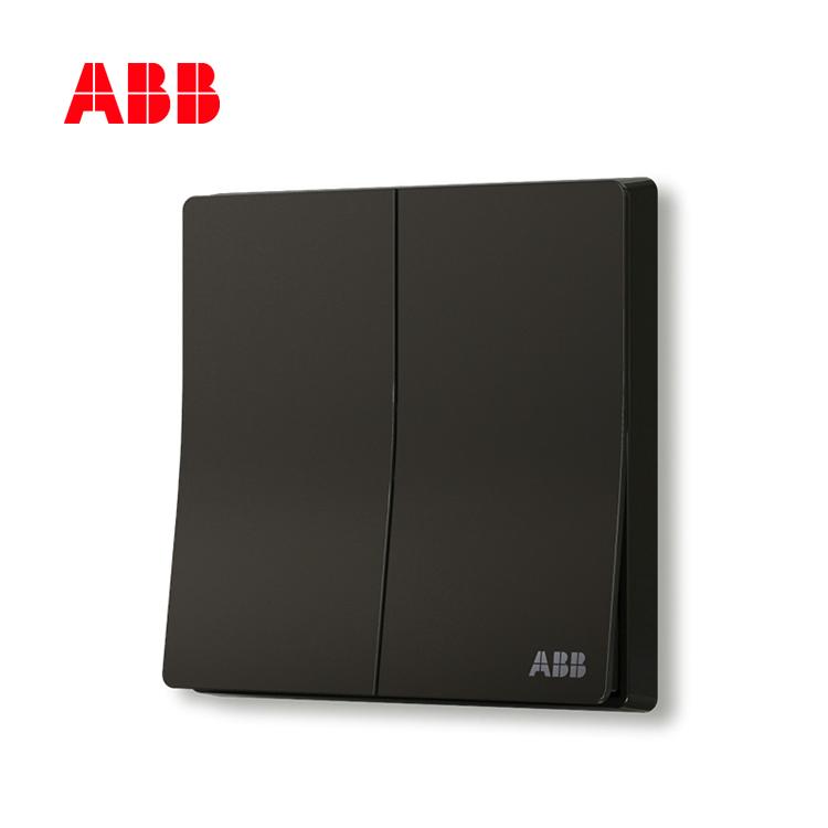 轩致系列二位单控开关 16AX, 折边, 星空黑, AF122-885;10183608