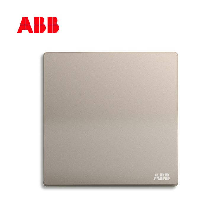 ABB开关插座轩致系列朝霞金一位单控开关AF127-PG;10183496
